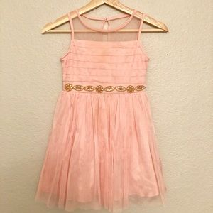 Light Pink Sequin Hearts Girl's Dress